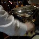 レストラン ストックホルム - こんな入れ物でお給仕
