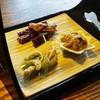 旅館阿久根 - 料理写真:前菜 有明の珍味三品