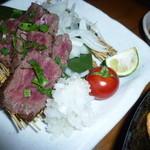 和食個室×しゃぶしゃぶ鍋 にっぽん市 - 「和牛いちばミニステーキ (780円)」