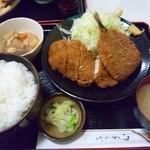 もも太郎 - チキンカツアジフライ定食