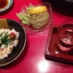 まるふく - 白子ポン酢 と蟹味噌 580円