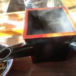 与衛門 - 蕎麦湯