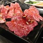 24182453 - カルビ&ロース盛合せセット1,430円に+500円で肉を1.5倍にアップしたもの。