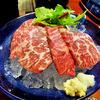中棚荘 - 料理写真:夕食(霜降馬刺し)
