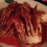 カフェラヴィアンジュ - 渡り蟹のトマトソースパスタ