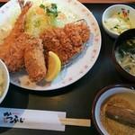 かつふじ - 冬のミックスフライ定食