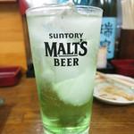 かねイシ - 青リンゴサワー450円