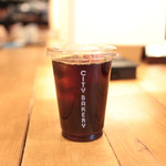 ザ シティ ベーカリー - ブレックファストセットのドリンク アイスコーヒー '14 1月中旬