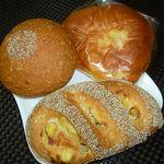 24352890 - あんフランス 180円、サツマイモフランス 190円、ぎっしりクリームパン 150円