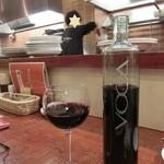 ワライヤキッチン - ドリンク写真:<2014年2月> ビールの後は、イタリアのボトルワイン、3800円。お洒落なボトル、飲み易いワインです(^^♪
