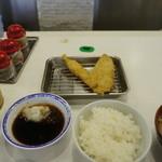 天ぷらのひらお - 白身魚と海老