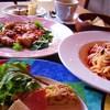 ポルコロッソ - 料理写真:ランチは1800円。前菜・パスタor肉・デザート・コーヒー付き(要予約)