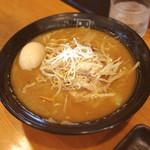 麺匠 玄龍 - 味噌らーめん 煮たまご 780円+100円