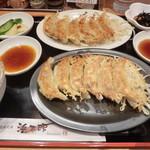 浜太郎 - 餃子定食(赤+白で12個)H26.2