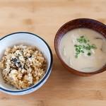 蒸食膳処 タケウチ - 玄米ごはんと粕汁