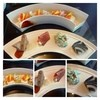 アシェット・ド・マコ - 料理写真:雲竜豆腐、柿と小松菜の白和え・鶏肝のテリーヌ、いちじくの生ハム巻き・豆腐のサラダ