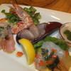 van-vino - 料理写真:ミナミマグロの中トロ、車海老などの極上鮮魚の5種盛合せカルパッチョ