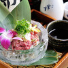 熊野地鶏 みえじん - 料理写真:地鶏の旨みを直に味わうことのできる『熊野地鶏もも肉のタタキ』