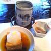 芦柳庵 - 料理写真:前菜の揚げ出し豆腐。烏賊の塩辛はビールのお通しです。