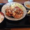 味彩坊 - 料理写真:地鶏の竜田揚げ甘酢餡掛け定食¥840