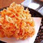 天ぷら食堂 天八 - 名物・桜えびのかき揚げ~見よこの大きさ&高さ!
