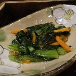 恵亭 - 香の物4種:野沢菜の昆布和え