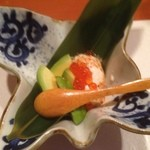 和創作 瑞楽 - 3品目。手作り豆腐。