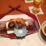 和創作 瑞楽 - 5品目。野菜の天ぷら。以上で3千円のコース完了。