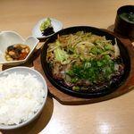 割烹 松ヶ枝 - 和風ステーキ定食(2014/02/28撮影)