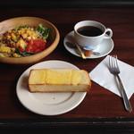 SALAD SHOP LANCIA - ベーコン&ほうれん草のオムレツのサラダのドリンクセット