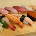 築地ビッグ寿司 - おまかせにぎり(2014年3月)