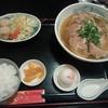 白壁 - 料理写真:チャーシュー麺定食(醤油)
