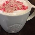 スターバックス・コーヒー - さくらチョコレートラテwithストロベリーフレーバートッピング