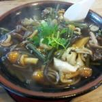 ゑがほ食堂 - 山菜きのこそば(1050円)