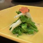銭屋 - 白魚と菜花