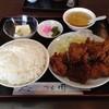 つる園 - 料理写真:とり唐揚定食\900
