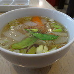 粥麺楽屋 喜々 - 美味しい野菜スープ