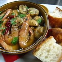 トヨタガールズ - 海老とマッシュルームのアヒージョ