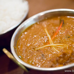 南インド料理ダクシン - チェテナード・チキンカレー+バスマティライス【2014年3月】
