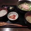 みなと屋 - 料理写真:ランチの釜玉みなと麺定食