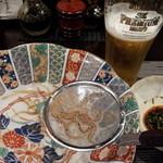 水炊き 積 - 白魚の踊り食い
