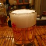 とり政 - 生ビール480円