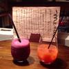 カフェ ピッコ - 料理写真:季節のフローズンカクテル&カンパリブラッドオレンジ♪(*^^)o∀*∀o(^^*)♪