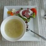 トラットリアロゼッタ - サラダ・スープ