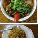 新福菜館 三条店 - チャーハン(小)セット。新福菜館三条店(京都市)食彩賓館撮影