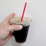 エクセルシオールカフェ - 会社まで持って帰って、いただいたアイスコーヒーS、280円。