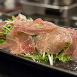 蓮 - 生ハムと水菜のサラダ
