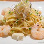 オリエンタルレシピカフェ - スプラウトと塩麹エビのゴマ生パスタ【2013年12月】
