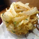楽釜製麺所 - かき揚げ接写。