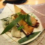 坂ノ下 田茂戸 - 2014年3月 熊本の筍焼き 蕗のとう入り海老しんじょ 空豆・こごみの天ぷら